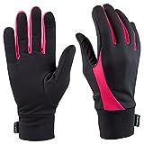 Gants de course TrailHeads Elements pour écran tactile, pour femme, noir/rose fluo - - Small