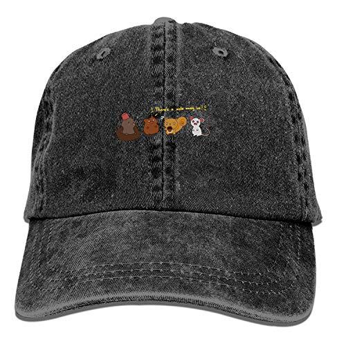ETXHU Baseball Trucker Cap, Er is een mol onder ons verstelbare Jeugd Cowboy Mens Golf Caps Hoeden