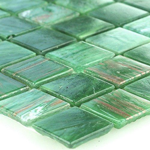 Glas Gold Star Effekt Mosaik Fliesen Grün