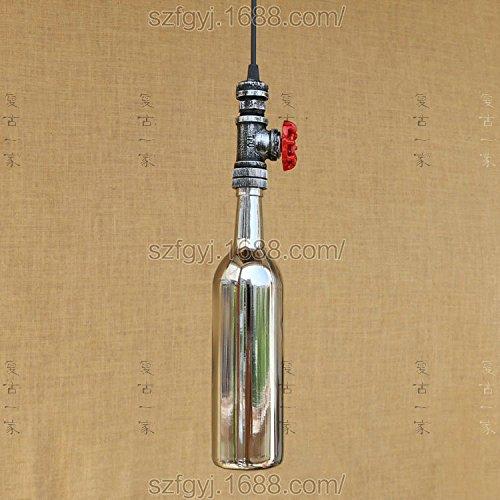 DengWu hanglampen, plafondlampen, kroonluchter, fles, wijnfles, kroonluchter, winkel, restaurant, glas, industriële stijl, wijncafé, retro-verlichting