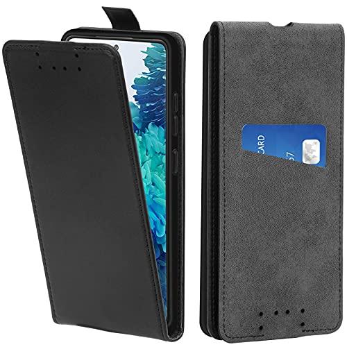 Adicase Galaxy S20 FE Hülle Leder Tasche für Samsung Galaxy S20 FE Handyhülle Flip Hülle Schutzhülle (Schwarz)