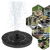 NaisiCore Solar, Bomba de Fuente 1W Círculo jardín de energía Solar de la Fuente Bomba de Agua Bomba de Birdbaths Ponds 5pcs