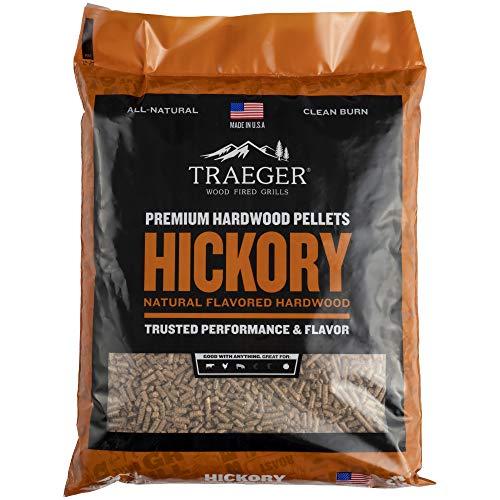 Traeger Grills PEL319 Hickory 100% All-Natural Hardwood Pellets Grill, Smoke, Bake, Roast, Braise and BBQ, 20 lb. Bag