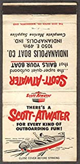 Scott-Atwater Outboard Indianapolis Boat Co matchcover