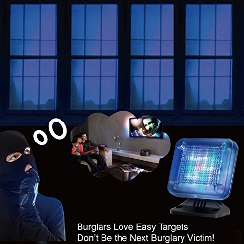 4VWIN 5.00V Temporizador y Sensor de Seguridad para el hogar 2.00W Simulador de TV Falsa con Cable USB de 5 V 1 A antirrobo y disuasorio de Robo