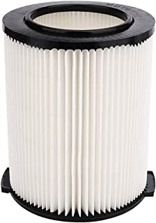 KONDUONE VF4000 Replacement Filter for Ridgid 5-20 Gallon Wet/Dry Vacuums & Husky 6-9 Gallon Vacuums -Replaces 72947 Filter (1-Layer Standard Filter, White)