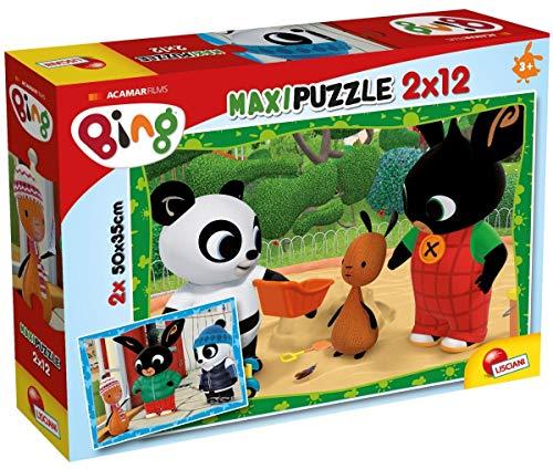 Liscianigiochi- Bing e I Suoi Amici Puzzle, 2x12 Pezzi, Multicolore, 81226