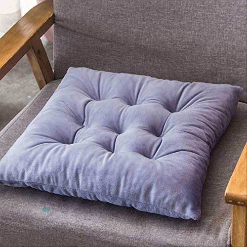 NV Solid Color Crystal Velvet Cushion, Superior Comfort And Softness, Reduces Pressure, Office Stool Mat Driver Seat Sitting Pillow 50x50cm Light purple