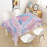 Chickwin Tovaglia Stampata Marmo Rosa, Tovaglia Lavabile Rettangolare Impermeabile Antimacchia per Cucina Tavolo da Giardino Decorazione Diverse Misure (A,100x140cm)