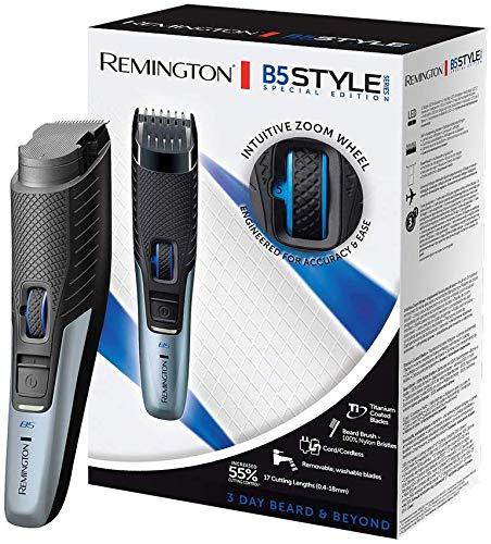 Remington Set de Rasage, Tondeuse Barbe B5, Lames Titanium Auto-Affûtées, Guides de Coupe Ajustable, Utilisation Avec ou Sans Fil - MB5001 Styles Series