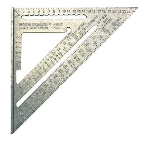 Swanson EU202 Metric Speed Square - Escuadra (25 cm), color gris