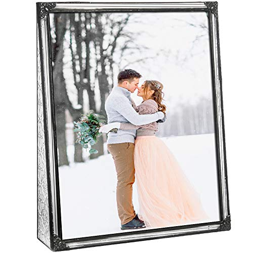 8x10 Picture Frame Clear Glass Wedding Photo Frame Family Anniversary Baby Keepsake Gift Vintage Home D