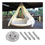 GlISR Hamaca de Montaje en Pared Ganchos de Anclaje for Trabajo Pesado aérea oscilación de Techo Yoga Kit Colgante Wall Hook Hamaca (Color : 1)