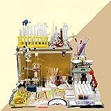 Equipo de laboratorio químico Caja Ciencia industrial Calentador de vidrio Extracción por destilación Aparato profesional de laboratorio Kit de suministros de enseñanza