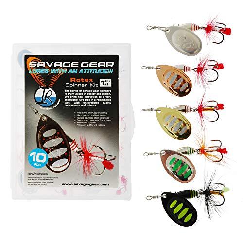 Savage Gear  Rotex Spinner #4 11g 03-Gold für Barsch Hecht Forelle
