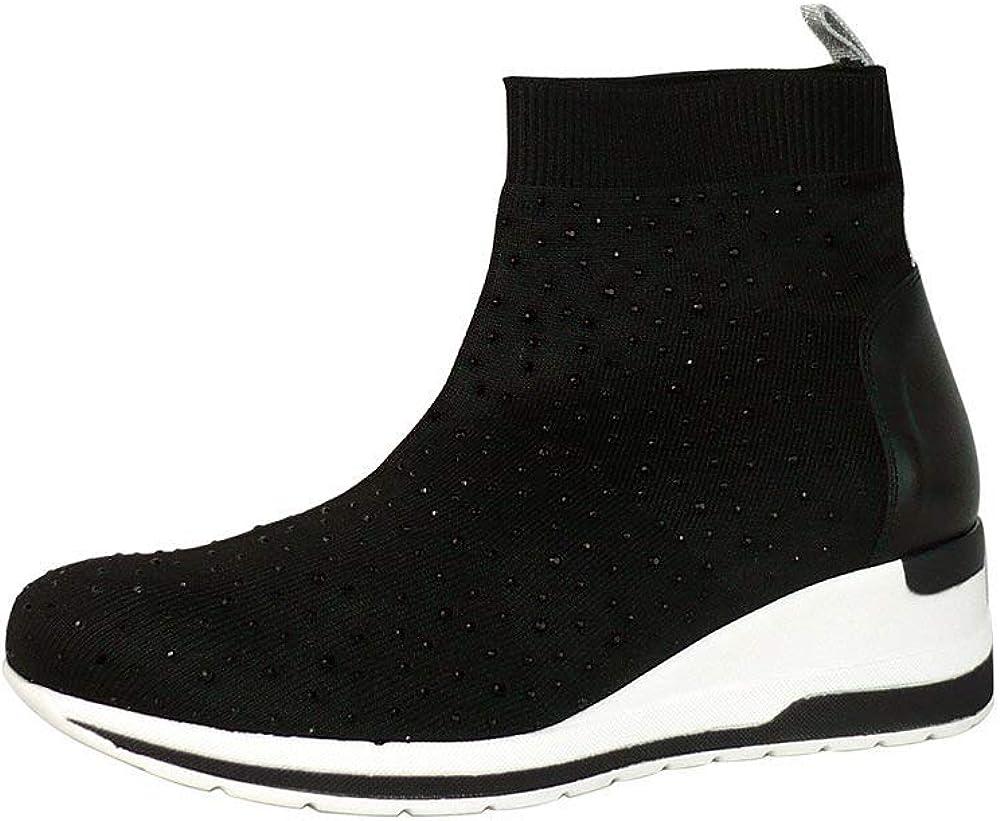 Melluso sneakers sportiva per donna,in tessuto elasticizzato R20429
