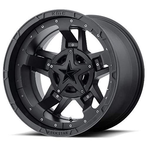 Rockstar by KMC Wheels XD827 Rockstar 3 Matte Black With Black Accents 20x10 8x165.1 -24 offset 125.5 hub