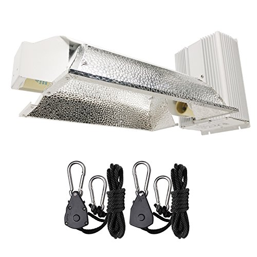 Hydro Crunch CMH02-630-ROPE 630-Watt Ceramic Metal Halide CMH Dual Enclosed Style Grow Light System, 630W Fixture, White