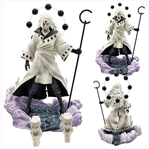 GOXJNG Anime Figure Action Figure GK Uchiha Madara 26.5cm Figurensammlung Statue Dekoration Modell Kinder Spielzeug Puppengeschenk