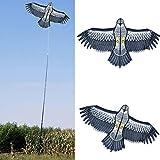 HizoeChu Bird Repeller, Bird Repelling Kite Emulation Flying Drive Bird Kite Light Weight Easy Assemble Bird Kite Extendable Bird Repeller for Garden Yard Farm