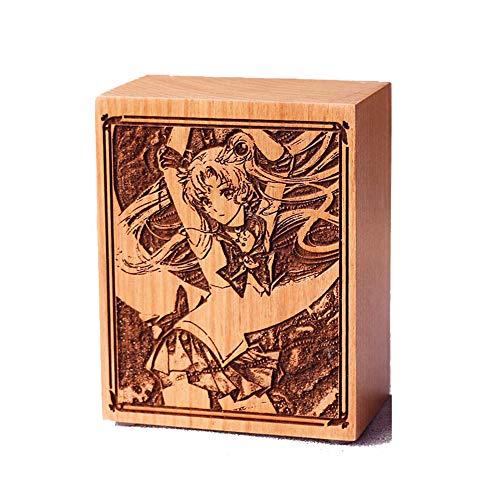 Sailor Moon - Carillon in legno per decorazione della casa, stile vintage, con meccanismo a orologio, regalo per Natale, compleanno, Capodanno