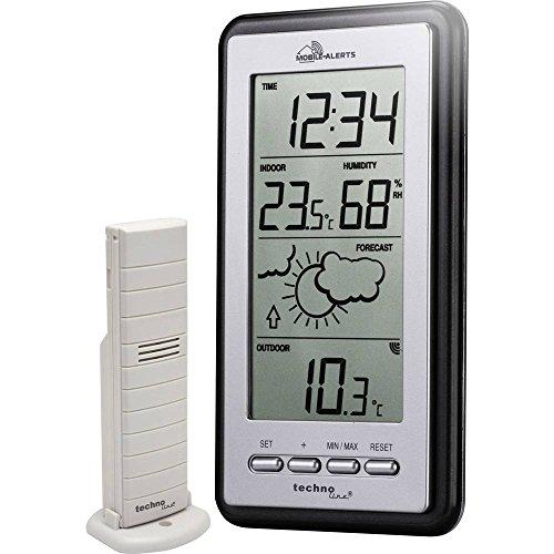 Technoline Smart Home Wetterstatation, Mobile Alerts, silber/grau, 8.2x2.3x15 cm, MA10430
