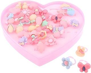Generic 36pcs Assorted Resin Finger Rings Toys Kids Girls Baby Children's Jewelry
