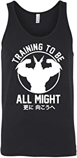 Training to Be All Might | Boku No - My Hero Academia Inspired Gym Men Unisex Tank Top