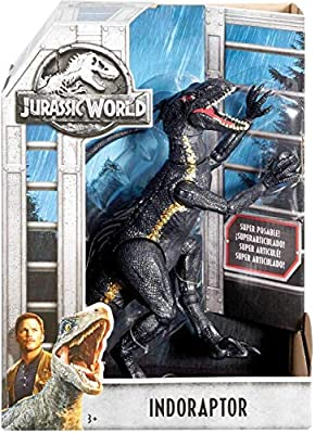 "Indoraptor Villian Dinosaur Posable Figure Jurassic World Fallen Kingdom 10"" from Mattel"
