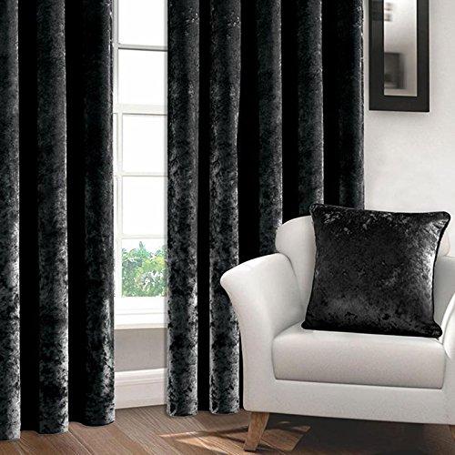 ASAB geplette fluwelen kussensloop | luxe velours voor woonkamer, slaapkamer, deur |43x43 kussensloop zwart