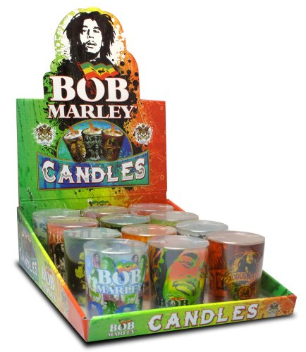 Bob Marley Tea Light Shot Glass Candles - Set of 12 Assorted Designs