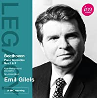 Emil Gilels - Beethoven: Piano Concertos Nos. 1 & 3 by Emil Gilels (2011-02-22)