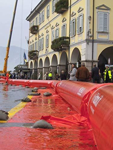 NOAQ Tubewall Air Filled Flood Defense Barrier (2.46' high x 7' Wide x 33' Long)