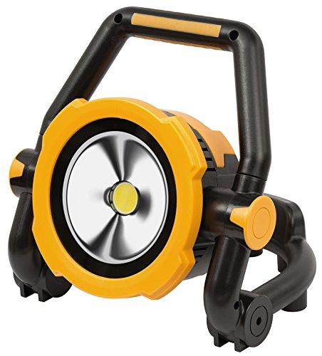 Brennenstuhl mobiele accu LED-lamp flexibel/LED spotlight accu (buitenverlichting, bouwlamp IP54, schijnwerper daglicht) 20 Watt zwart/geel