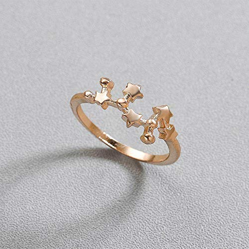 DGSDFGAH Ring For Women Sagittarius Constellation Ring Finger Ring Scorpio Twelve Constellation Women'S Zodiac Constellation Girl Wedding Jewelry Jewelry