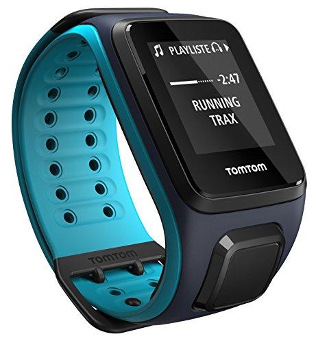 TomTom Runner 2 Music + Casque BT - Montre GPS - Bracelet Large Bleu Marine / Turquoise (ref 1REM.001.05)