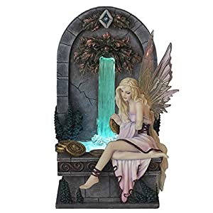veronese design fairy wishing well led light up fountain sculpture