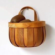 Home Living Museum/Rattan Storage Basket Wicker Fruit Display Basket Weaving Basket Bread Bamboo Basket Supermarket Fruit ...