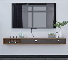 Floating shelf Wall Mounted TV Stand Shelf Rack Cabinet Media Entertainment Console Gaming Shelving Unit with 3 Drawers Ho...