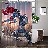 Superman-Duschvorhang, ungiftig, geruchlos, langlebig, hochtemperaturwiderstandsfähig, bunte Duschvorhänge