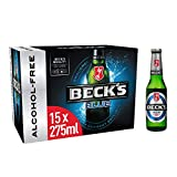 Becks Blue 0% Alcohol Free German Lager Beer Bottle, 15x