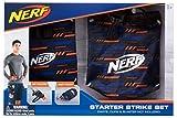 Jazwares- Nerf Elite Starter Strike Set caña y Funda para Dardos, Color Azul y Naranja. (11520)