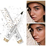 SUMSAYEI 2 Colors Natural Freckle Pen,Faux Lifelike Freckle Makeup Pen Magic Freckle Color,Waterproof Longlasting Soft Dot Sopt Pen,for Natural Effortless Sunkissed Makeup