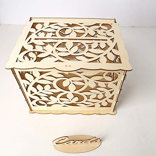 MASUNN Hochzeitskarten-Box mit Schloss DIY Geld Geschenk-Box für Geburtstag Party