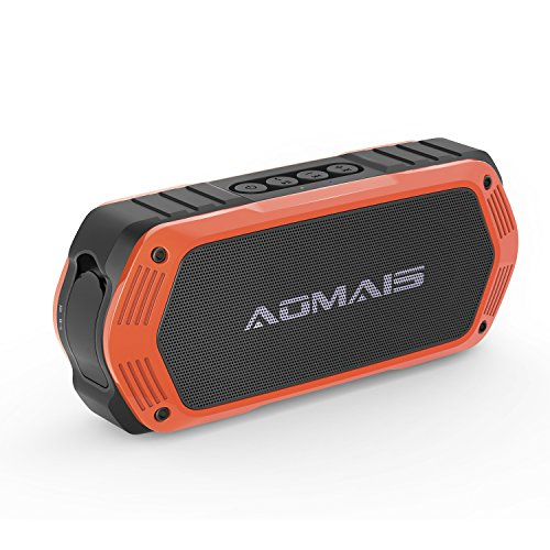 AOMAIS Tough Bluetooth Speakers, Portable Outdoor Wireless 10W Stereo Sound Speaker Waterproof IPX7 Rating with Enhanced Bass for iPhone, iPod, iPad, Tablets