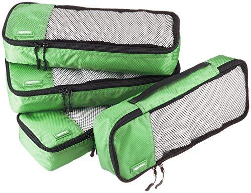 Amazon Basics Schmale Kleidertaschen, 4 Stück, Grün