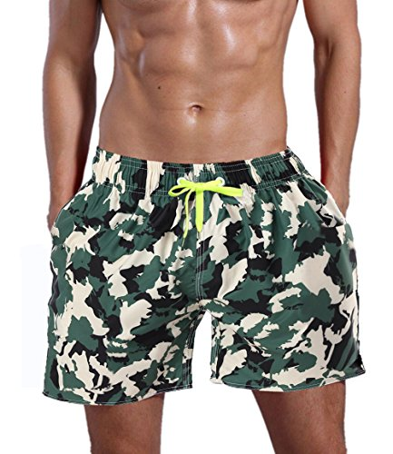 QRANSS QRANSS Men's Swim Trunks Beach Surf Shorts
