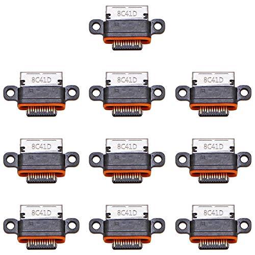 YEYOUCAI Piezas de Repuesto Conector de Puerto de Carga de 10 Piezas para Huawei Honor View 20