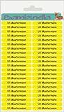 Bambinella® Namensticker für Stifte - 3 Blatt à 42 Stück = 126 Stück - Hergestellt in eigener Werkstatt in Deutschland