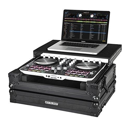 Reloop Beatmix 2 Case - extrem robuste Konstruktion, Laptop Ablagefläche, schützende Schaumstoffpolsterung, praktischer Tragegriff, schwarz